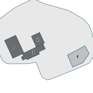 Porzione di cartografia che inquadra gli edifici di questa scheda